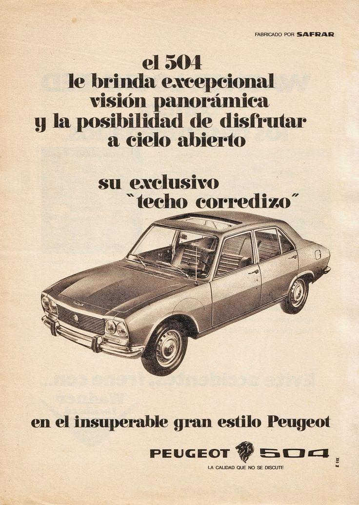 PEUGEOT 504. Aviso de 1970.