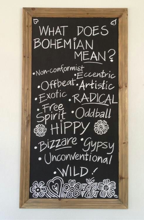 seems to me my style can run to the Bohemian side...