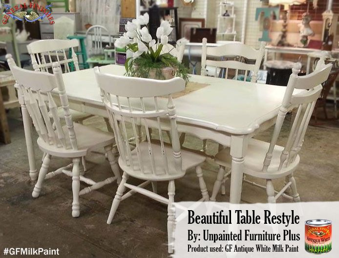 unpainted furniture plus of waco tx refinished this dining set with general finishes antique white milk paint and