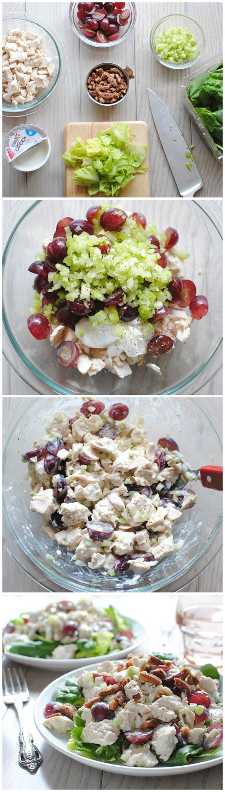Greek Yogurt Chicken Salad- take out the nuts