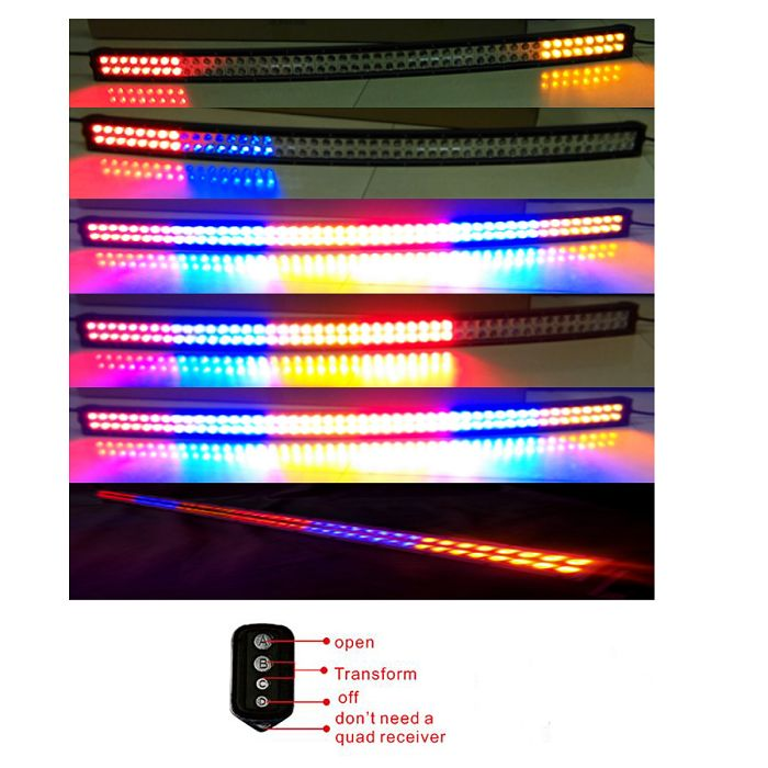 16 best idun offroad led light bar images on pinterest led light 3w epistar chips screw type double row 4 color strobe flash rgb led light bar mozeypictures Gallery