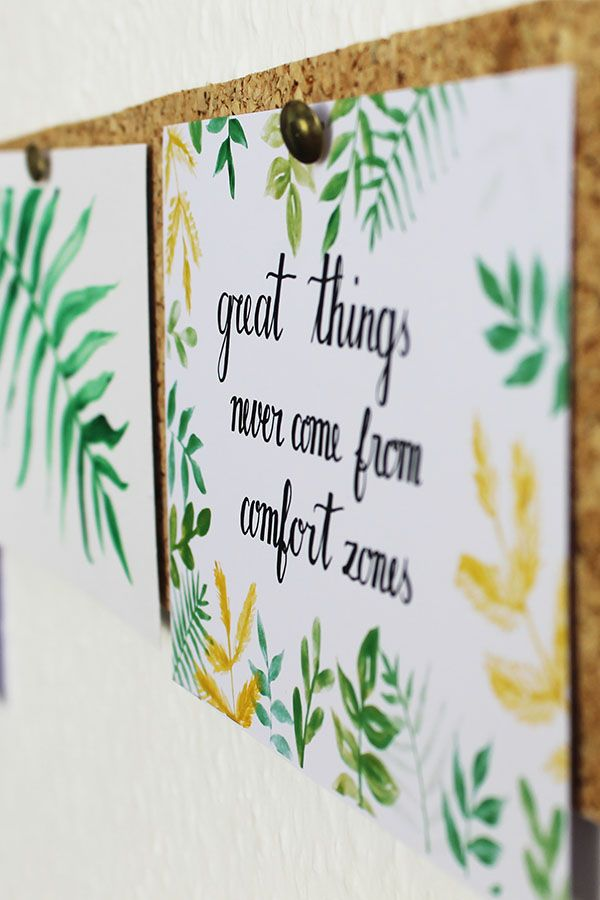 Great Things Never Come From Comfort Zones Handmade Card With