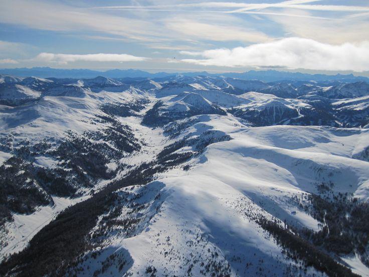 Alpy z koše balónu