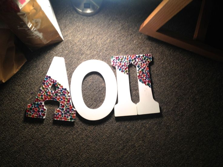 Letters! #aoii #crafts #sorority