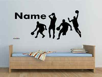 #Personalised #basketball team players any name vinyl wall sticker #decal any roo,  View more on the LINK: 	http://www.zeppy.io/product/gb/2/201580502185/