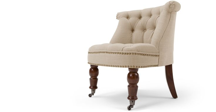 Bouji, fauteuil, beige biscuit et brun vintage