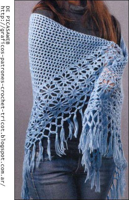 crochet fabric , CROCHET - GANCHILLO - PATRONES - GRAFICOS: agosto 2013
