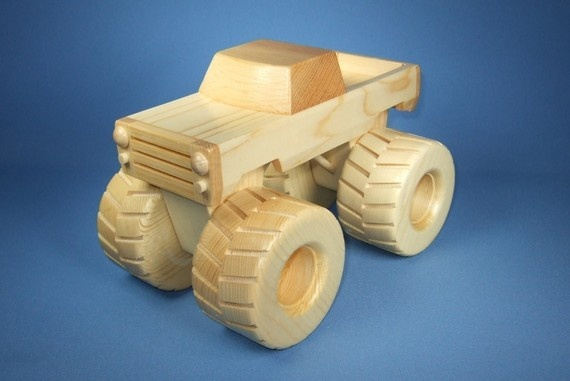 Handcrafted Wooden Toy Monster Truck by WoodcraftingByRobert, $30.00