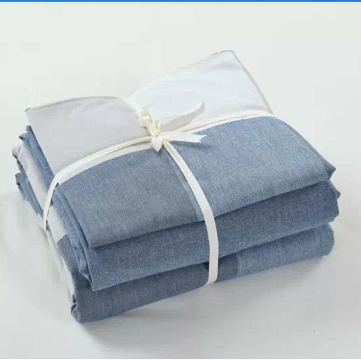 ==> [Free Shipping] Buy Best Fashion Plaid washed cotton grey white blue bedding set 3pcs 4pcs king queen twin size duvet cover set bed flat sheet pillowcase Online with LOWEST Price | 32637700406