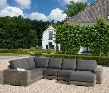 Modular rattan garden furniture set