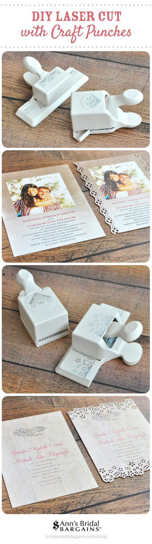 Laser cut wedding invitation DIY: a clever way to get the look of laser for WAY less.