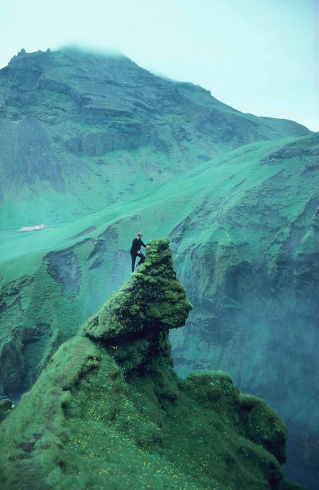 Skogafoss, Iceland by Reinhard Pantke (amazing profile of a face!)