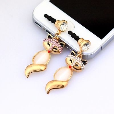 Find More Dust Plug Information about 2015 New Luxury Sexy Fox Earphone Jack Plug For 3.5MM,DIY Diamond Metal Dust Plug,1 Pc Free Shipping,High Quality plug rj45,China earphone pc Suppliers, Cheap earphones pro from Shenzhen Yip's Union Trading Store on Aliexpress.com