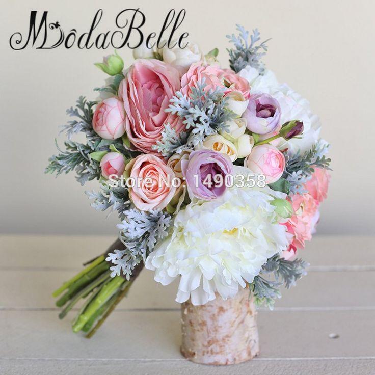 2017 Elegant Artificial Wedding Bouquets Camellia Romantic Coral Pink Bridesmaid Flower Bouquet de Mariage Accesoires