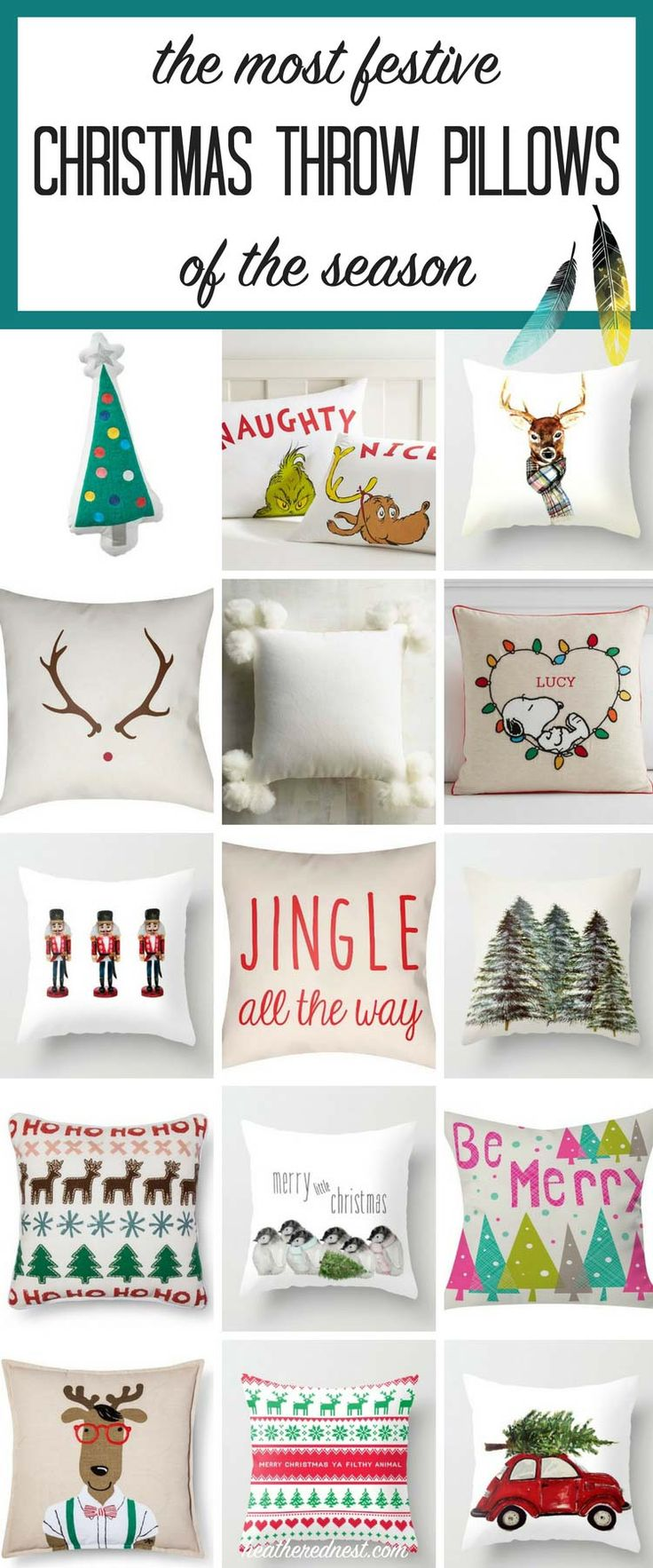ALL the best Christmas pillows of the season in ONE spot!! Found so many here I LOVE!!