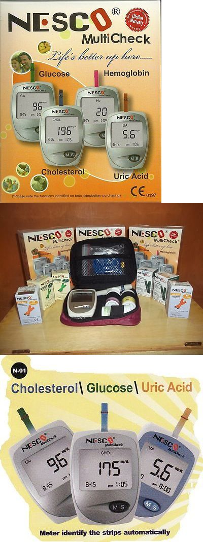 Cholesterol Testing: Nesco Multicheck Glucose,Uric Acid And Cholesterol Meter Test Kit BUY IT NOW ONLY: $62.5