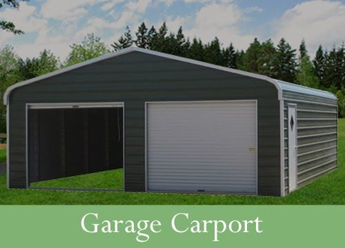 Portable Carport With Shed : Tin siding for portable car garage carport