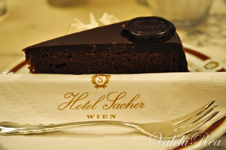 Torta Sacher en el Hotel Sacher. Vienna.