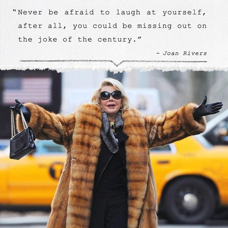 RIP, Joan Rivers. You'll always be the most stylish comedian around. #Quote