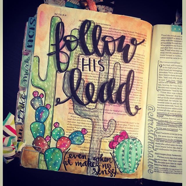 Bible Journaling by Christina Lowery @christinasalive | Acts 8