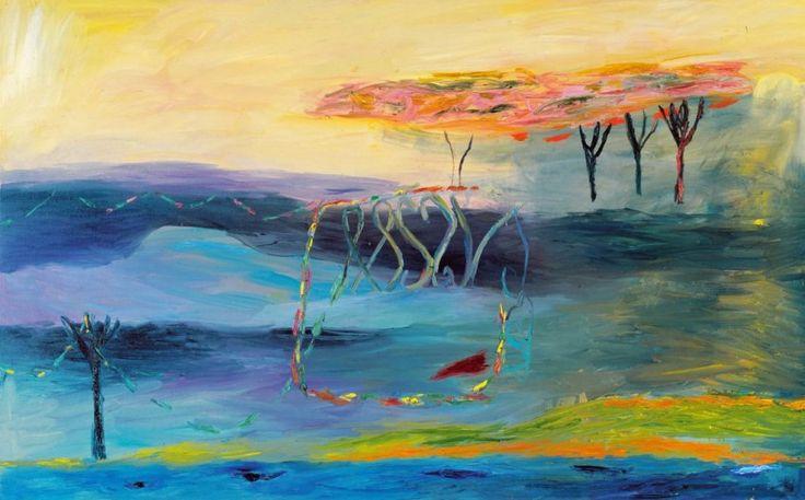 Nanna Susi - Pieni puutarha,maalaus,132x210cm,1999,Tampereen taidemuseon kokoelma