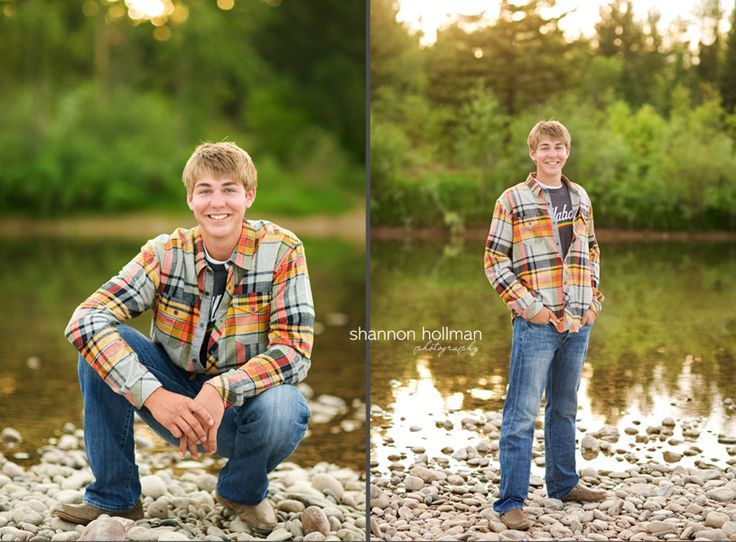 SENIOR PICTURE IDEAS FOR BOYS ON A FARM | Take pics like these by the creek on the farm