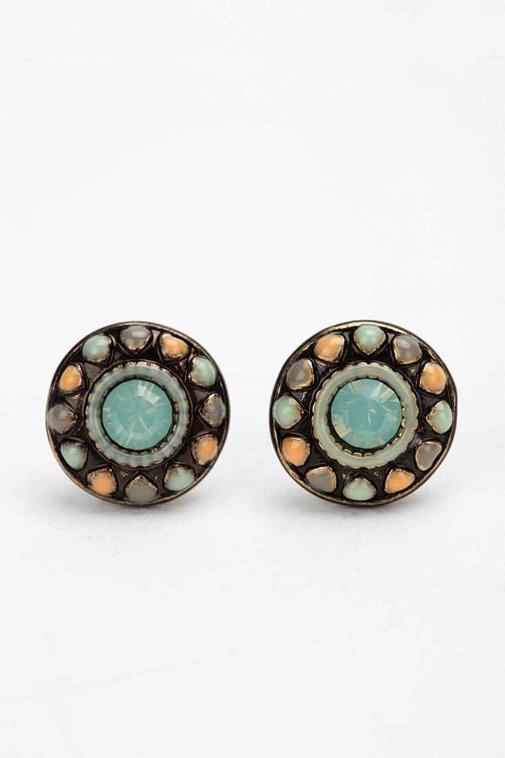 Pinwheel Post Earring