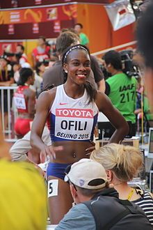 Cindy Ofili - Athletics. 100m hurdles.