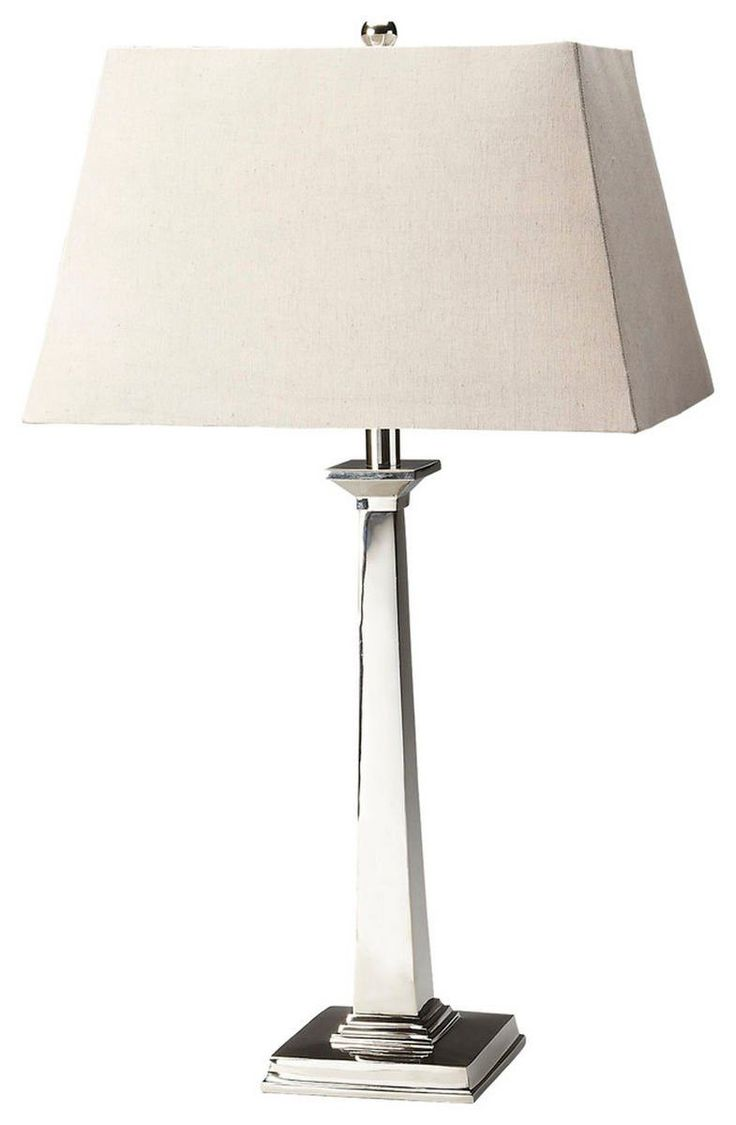 Traditional Table Lamp Silver