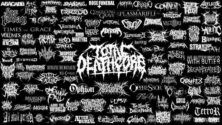 of Deathcore Band Logos