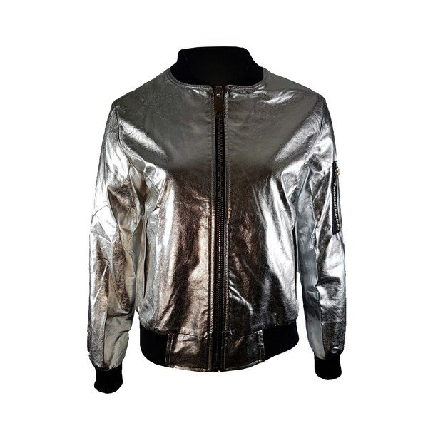 SILVER BOMBER JACKET £55