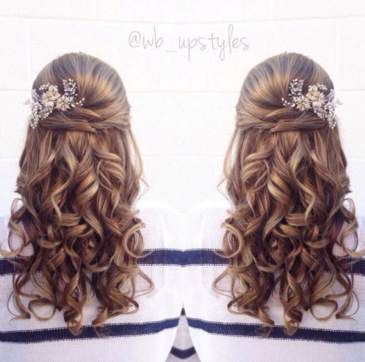Beautiful half up half down wedding ceremony hairstyles concepts no 94