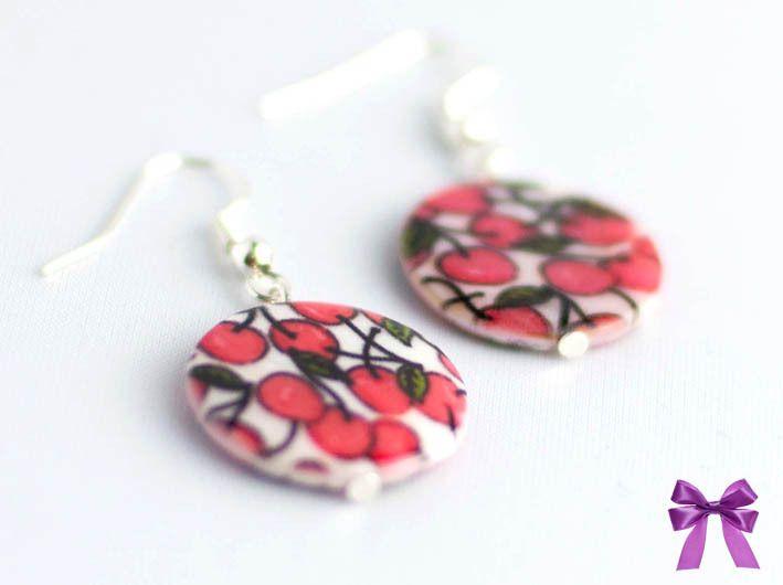 Ohrringe Kirschen / Cherry von  Manus Geschenkekiste auf DaWanda.com