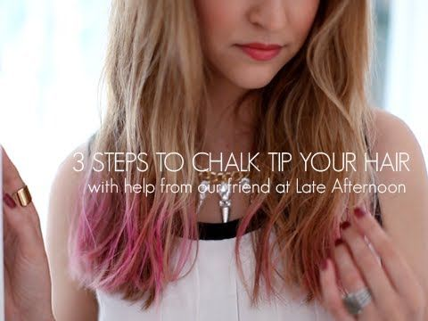 {VIDEO!} 3 Steps To Chalk Tip Your Hair by LEAFtv