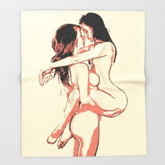 Girls love to play naughty - sexy conte 2 Throw Blanket