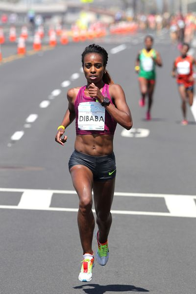OROMO ATHLETE GENZEBE  DIBABA RUNS SECOND-FASTEST 5KM IN HISTORY AT CARLSBAD 5000, MARCH 29, 2015. Oromian  compatriots Gelete Burka and Wude Ayalew win 2nd and 3rd places. Oromo. Oromia. Africa.   http://www.iaaf.org/news/report/carlsbad-5000-2015-genzebe-dibaba-lalang