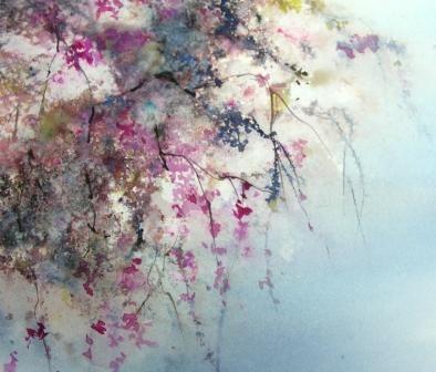 Cascade (Peinture) par Reine-Marie PiNCHON