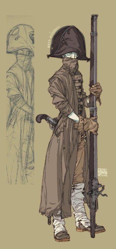 Calum Alexander Watt. The cloak and fabric weight is really… https://www.artstation.com/artist/badmiaou