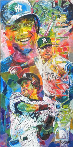 "Tribute to Yankee Great Derek Jeter. Original oil on gallery-wrapped canvas. 18""x 36"" Framing is available, please inquire: jbjazz@goblankart.com If you'd like to see more of my work that isn't on myS"
