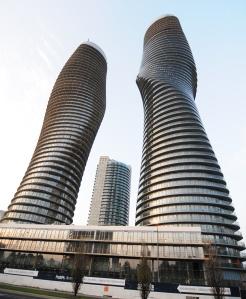 Marilyn Monroe Tower.This Curvy residential condominium in Mississauga, Ontario, Canada.