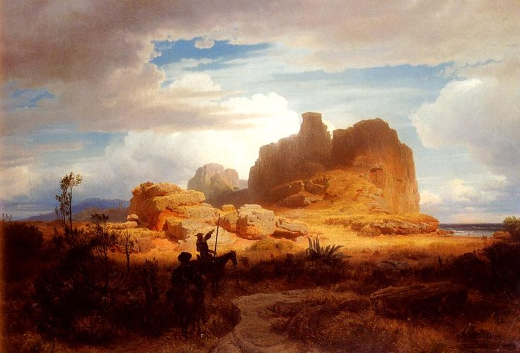 Oswald Achenbach - Don Quixote and Sancho Panza, art canvas print http://www.photoartomation.com/ArtGallery.html