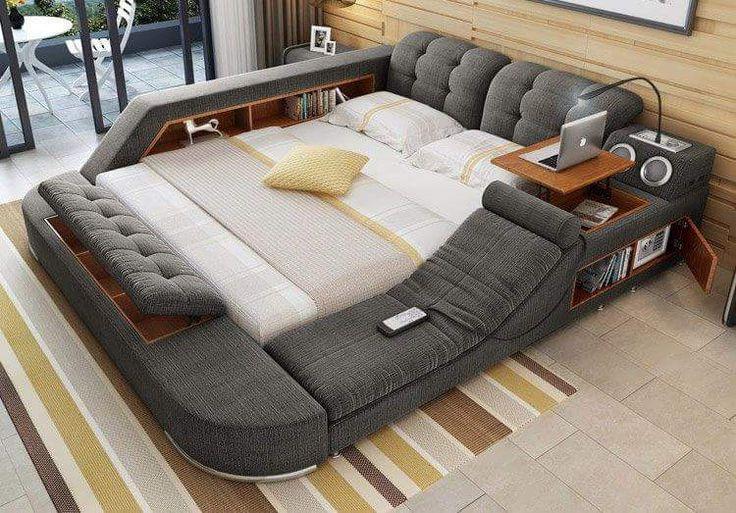 Cheap De cuero moderno queen size marco de la cama con ...