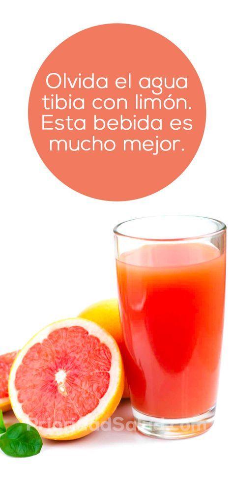 Esta mezcla de toronja o pomelo es mejor de que agua tibia de limón para perder peso y desintoxicar el cuerpo. Haz clic ver cómo prepararla.