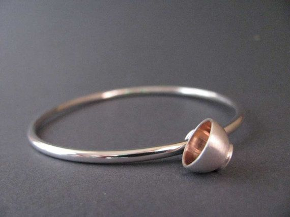 Teacup charm bangle  rose by juliecannonjewellery on Etsy, $159.00