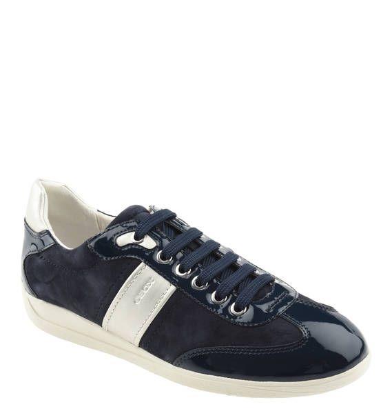 #GEOX #Sneaker #Myria #, #Leder, #Lack #Elemente, #atmungsaktiv Sneaker ´´Myria´´ in einem Mix aus Veloursleder und Lack-Elementen. Aufgrund der verarbeiteten Membran in der Sohle ist diese wasserundurchlässig und atmungsaktiv. Sneaker ´´Myria´´, Leder, Lack-Elemente, atmungsaktiv