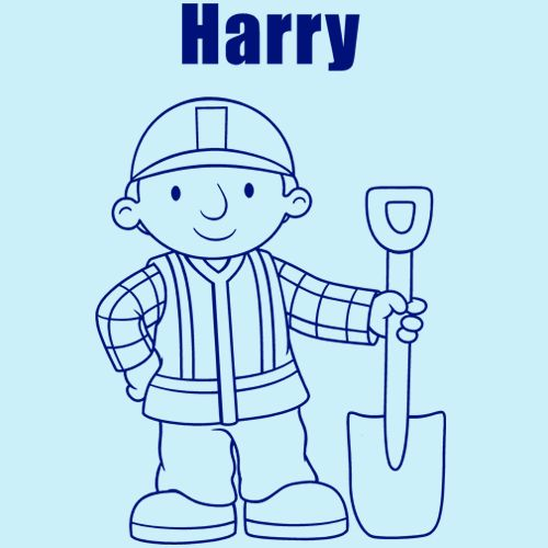 Personalised Bob The Builder With Spade   Wall Art Is The Perfect Way To  Brighten Up