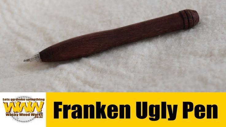 Franken Ugly Pen. Stress Free Woodworks  Pen Challenge - Wacky Woodworks