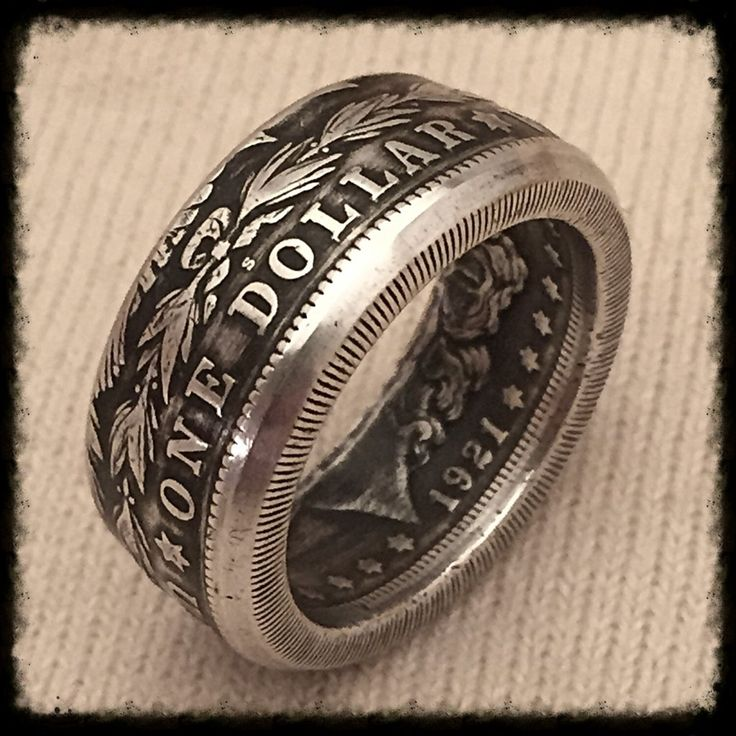 Morgan Silver Dollar - Late 1800's to early 1900's Coin. Size 9.5 - 16 Wear a piece of history. These rings make a great birthday gift, conversation piece, gifts, and addition to your collection. If s
