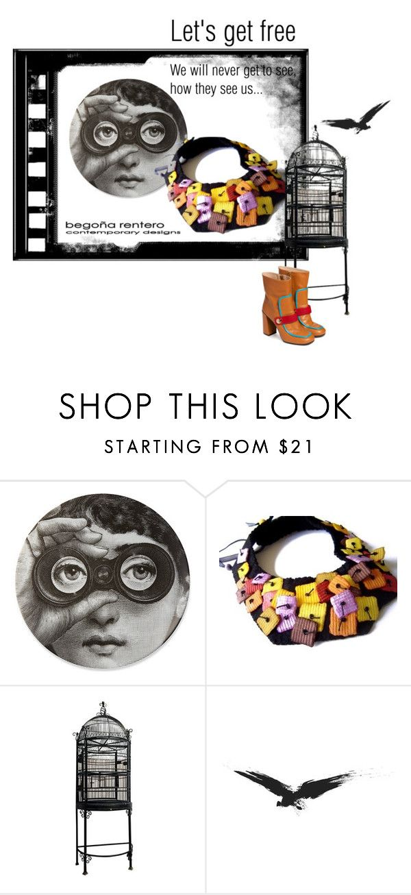 """""""Let's get free"""" by renterodesigns on Polyvore featuring moda y Fornasetti"""