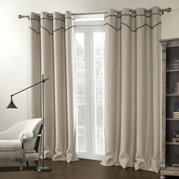 Beige Modern Stripe Room Darkening Curtain   #curtains #decor #homedecor #homeinterior #beige